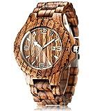 CUCOL 木製木目腕時計