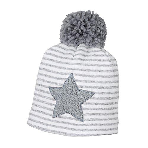 Sterntaler Mütze mit Bommel und Baumwollfutter, Alter: ab 9-12 Monate, Größe: 47, Grau (Rauchgrau)