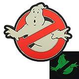 2AFTER1 Ghostbusters No Ghost Glow Dark GITD Cosplay Movie PVC Rubber 3D Hook&Loop Patch