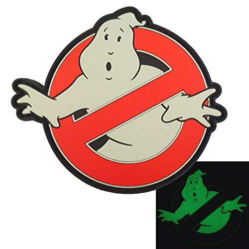 2AFTER1 Ghostbusters No Ghost Glow Dark GITD Cosplay Movie PVC Rubber 3D Hook&Loop Patch