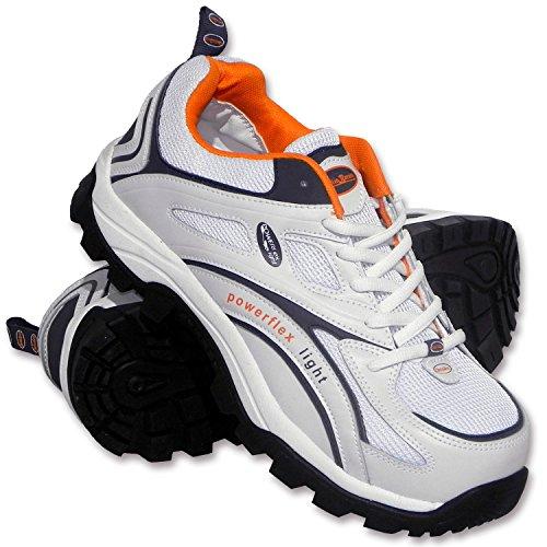 Charlie Barato® Sicherheitsschuhe S1P LOG986 Weiß Unisex - Stahlkappe, durchtrittsicher, rutschhemmend, antistatisch, Action-Leder (45)