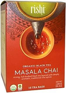 Rishi Organic Masala Chai Tea - 15 bags per pack - 6 packs per case.