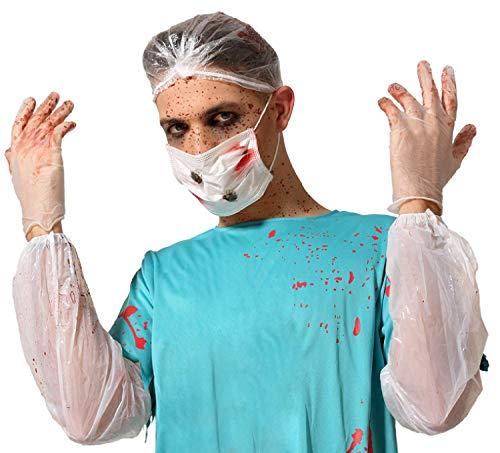Halloween-Kostüm für Erwachsene, Damen, Herren, blutiger Horror, Arzt, Chirurg, gruselig, Halloween-Kostüm, Outfit-Set