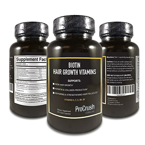 Biotin Hair Growth Support Multivitamins- Grow Longer, Fuller, Thicker, Healthier Hair. Natural Supplement Vitamin for Skin
