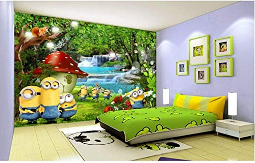 Minions Bananas Wallpaper 3d Cartoon Movie Wall Mural Personalizar Foto Papel Tapiz Decoración De La Habitación Kid Bedroom Tv Wall Despicable Me