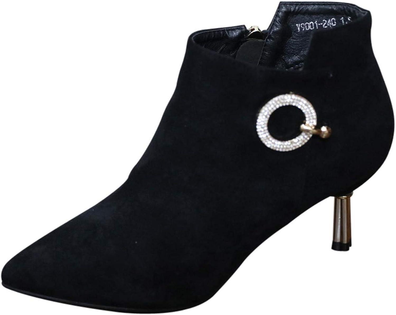 LBTSQ-Spitzer Kopf Dünne Sohle Kurze Stiefel Modische Witze Witze Witze Reißverschlüsse 6CmWasser Läuft Hochhackigen Schuhe Und Ohne Stiefel.  fdb849