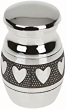 Prettyia Love Heart Keepsake Cremation Ashes Urn Funeral Container Jar Mini Small