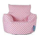 Lounge Pug, Kindersessel Sitzsack, Sitzsack Kinder, Druck Pink Getupft