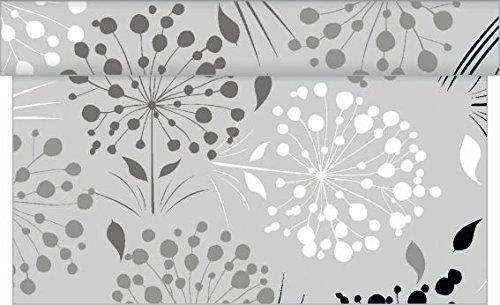 Sovie Home Tischläufer ERNA/Linclass® Airlaid Tischläufer 40cm x 4,80m / Einmal Tischdecken-Rolle stoffähnlich für Partys (Grau)