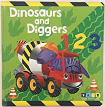 Page Publications Collection - Dinosaurs and Diggers 123 - Board Book - Best Baby Boy and Girl Books - Toddlers Early Lear...