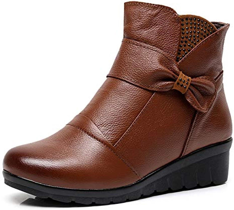 HOESCZS HOESCZS Damenschuhe Winterschuhe Lederstiefel Warme Baumwolle Schuhe Flach Mit Strass Damen Baumwolle Schuhe Rutschfeste Baumwolle Stiefel  sehr gefragt sein