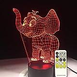 Elefante bebé luz Nocturna Interruptor táctil Control Remoto lámpara de Mesa Cambio de Color decoración de habitación lámpara de Regalo