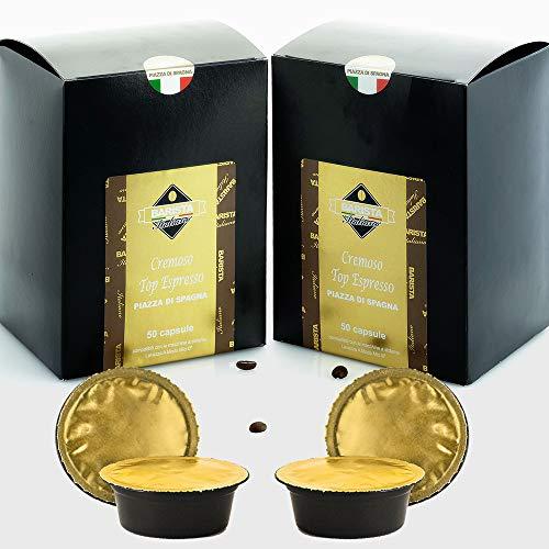 Barista Italiano 100 Lavazza A Modo Mio Kompatible Kaffeekapseln (CREMOSO TOP ESPRESSO)