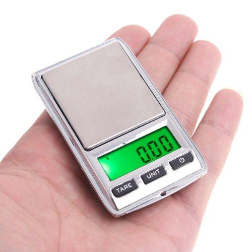 Báscula digital 0.01g/0.1g joyeria/cocina/alimentos,Roeam Balanza electronica bolsillo portatil Escala mini LCD Doble escala miligramos
