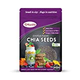 Morlife Chia Seeds Certified Organic 1kg, extremely versatile, Vegan, No colours, flavours, preservatives