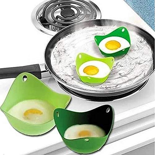 Egg Stroper Cups ei pocheren Cups, Silicone pocheren Pods, Magnetron Of Gasfornuis eierkoker, Kleurrijke Non-Stick Silicone Egg Cookware Pod Cup