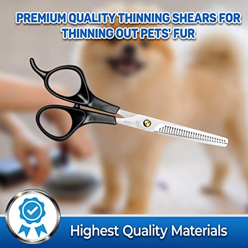 how to use thinning shears on dogs