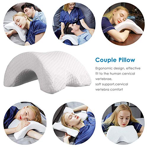 Arm Pillow Cuddle Pillow for Couples Neck Cervical Pillow Anti Hand Pressure Arched Shaped Pillow Memory Foam Slow Rebound Pressure Pillow Office Rest Pillow Neck Back Support Pillow