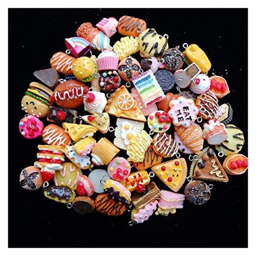 YDZS Collane per Donne 2-3 cm Misto Pendant Set Decorato a Mano Ciondolo Pendenti (Color : Mix Cakes Biscuits)