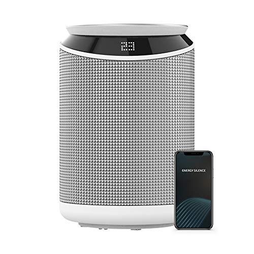 Cecotec Calefactor cerámico ReadyWarm 6350 Ceramic Touch Connected. 2000 W, 3 Modos, Control WiFi, Pantalla LED, Temporizador 9 Horas, Oscilación, Sistema de Seguridad, Mando a Distancia