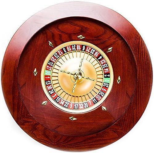 precio razonable Brybelly Casino Grade Deluxe Wooden Wooden Wooden Roulette Wheel, rojo marrón Mahogany, 19.5  by Brybelly Holdings, Inc  Centro comercial profesional integrado en línea.
