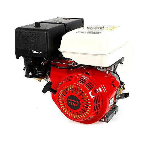DONNGYZ 4-Stroke 15HP OHV Single Cylinder Gasoline Engine Go Kart Gas Engine Gas Power Gasoline Motor 420CC with Oil Alarm(US Stock)