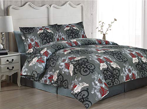 Soft Sleep Set Copripiumino in Rasatello di Cotone Egiziano a 300 Fili, 100% Cotone Cotone, Coronado, Doppio