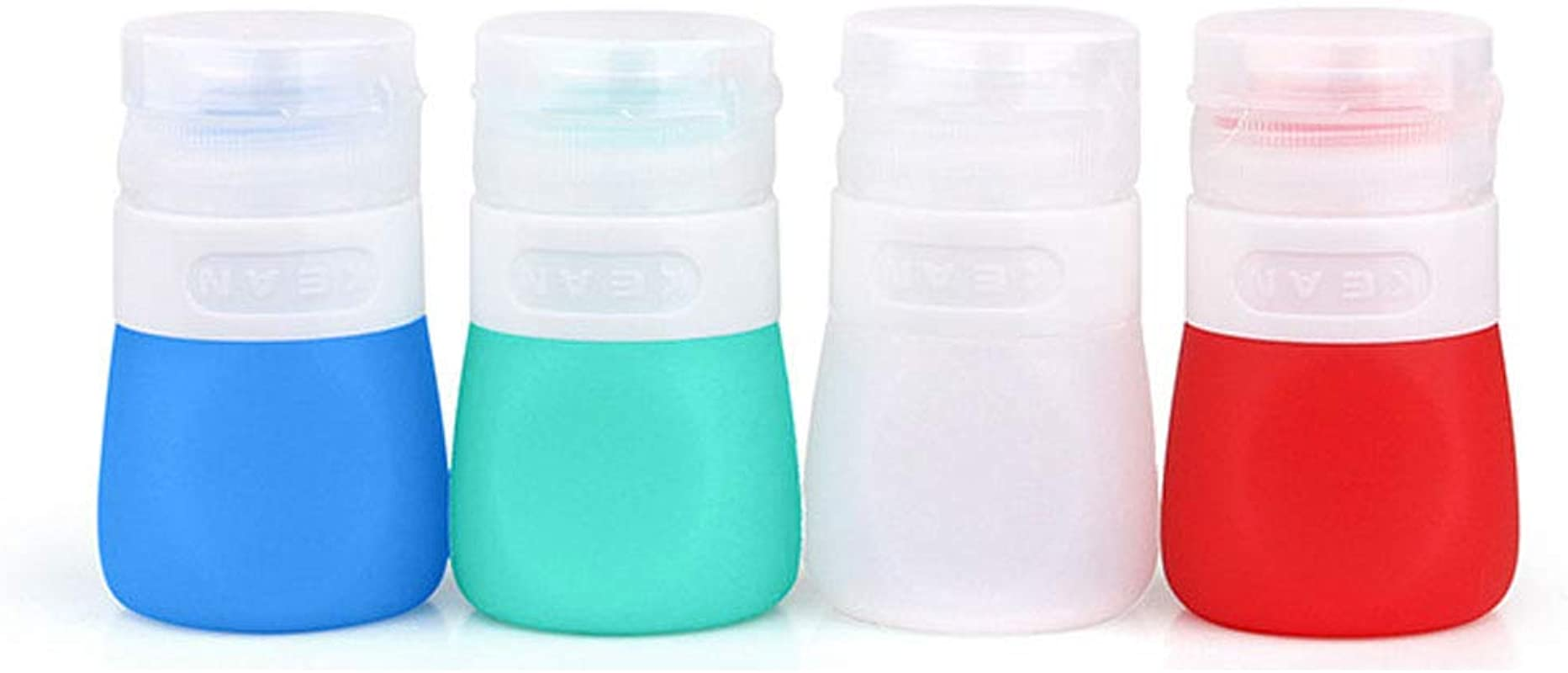 YINGGG Squeeze Portable Salad Dressing Bottles Sauce Leakprook Containers To Go Condiment Storage Bottle Set Of 4 37ML
