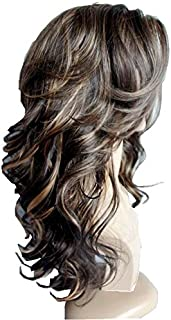 Wigbuy Hair Wigs Body Wavy Curly 24inches Long 100% kanekalon hair Fiber Synthetic Hair Wigs for White Women 2)