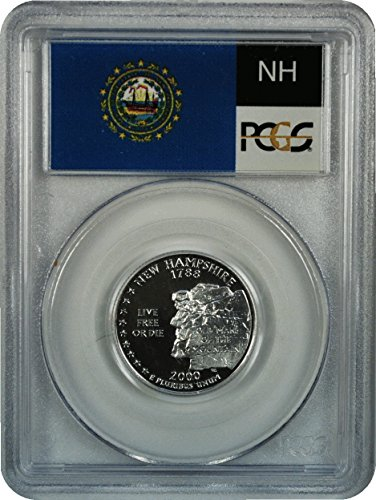 2000 S New Hampshire Silver Statehood New Hampshire Silver Statehood Quarter DCAM PCGS PR-69