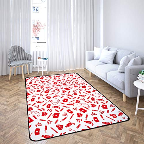 Healthcare Area Rug Rugs for Living Room Bedroom 4'x6'