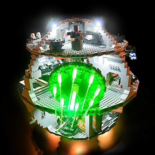 Conjunto de luces Lightailing para (Star Wars Estrella De La Muerte) Modelo de Construcción de Bloques - Kit de luz LED compatible con Lego 10188 (NO incluido en el modelo)