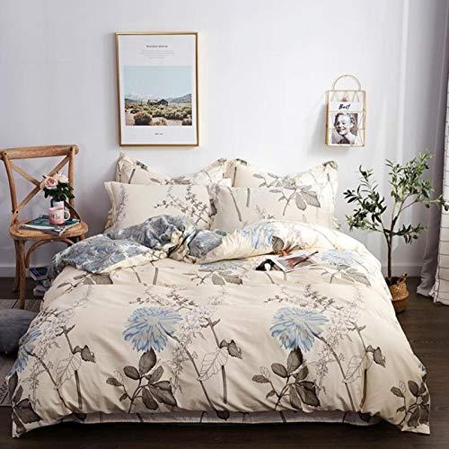 LINGs Scandinavian cotton bedding sets, duvet cover bed sheet pillowcase textile,ENZE-026,1.5m