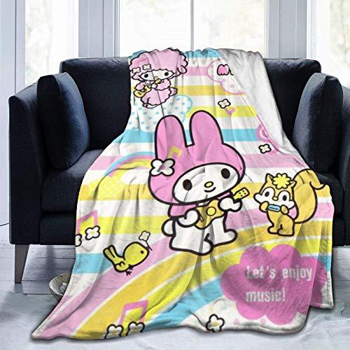 Tengyuntong Manta Ultra Suave Micro Fleece Cozy Luxury Hello Kitty My Melody Kuromi Bed Throw Throw Grueso Microplush Manta de Cama