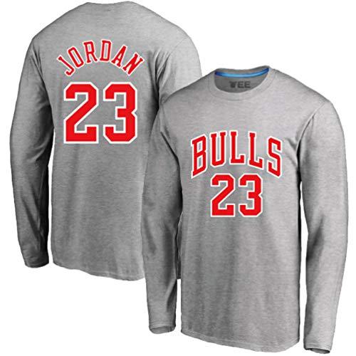 SHR-GCHAO Baloncesto Camiseta, Chicago Bulls # 23 De Baloncesto Jersey, Deportes Jersey De Entrenamiento De Manga Larga, con Capucha Otoño Y El Invierno Cálido,XXXL