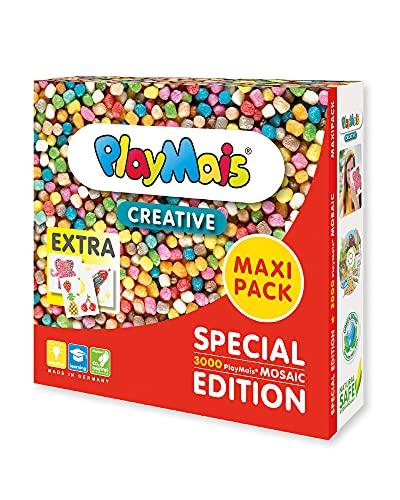 PlayMais MAXI PACK Creative für Kinder ab 3 Jahren   Motorik-Spielzeug mit 3.000 PlayMais & Vorlagen   Fördert Kreativität & Feinmotorik…