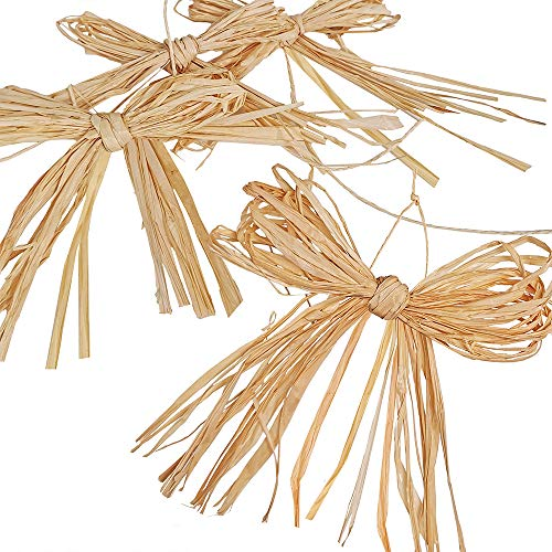 36 PCS Assorted Size Natural Raffia Bows Pre-Tied Raffia Paper Bows Raffia Twist Tie Bows Decorative Bows Craft for Holiday Floral Arrangement Bouquets Gift Packaging Wreaths Garlands Rustic Decor
