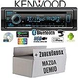Mazda Demio - Autoradio Radio Kenwood KDC-BT530U - Bluetooth | Spotify | iPhone | Android | CD/MP3/USB - Einbauzubehör - Einbauset