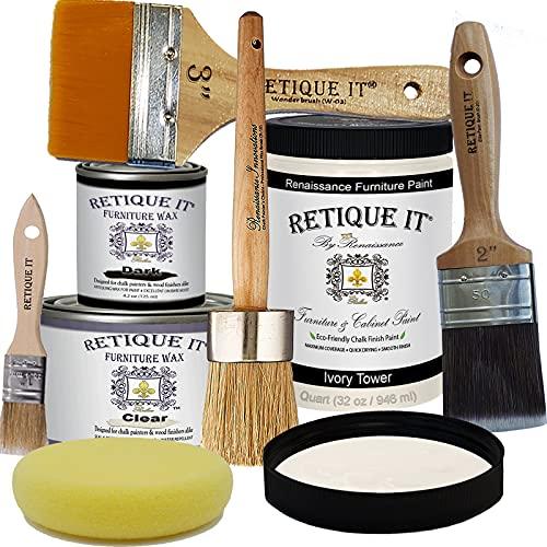 Retique It Chalk Furniture Paint by Renaissance DIY, Wax...