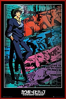 Cowboy Bebop - Framed Anima/Manga TV Show Poster/Print (Spike) (Size: 24 inches x 36 inches)