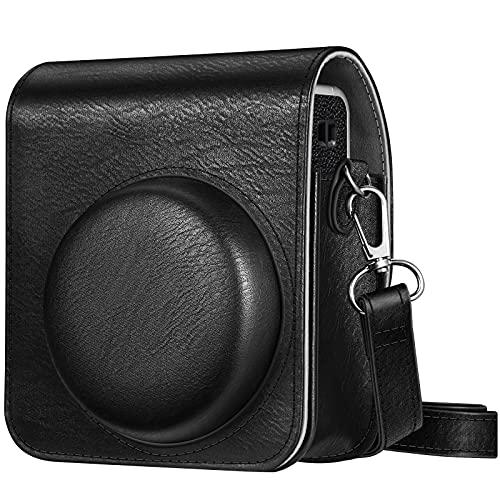 Fintie Funda Compatible con Fujifilm Instax Mini 40 Cámara Instantánea - Bolsa de Material Sintético de Primera Calidad con Correa Ajustable/Desmontable, Negro