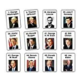 United States Presidents in Order | 46 Flash Cards | American History | Presidents of The United States | Montessori Flashcards (Laminated)