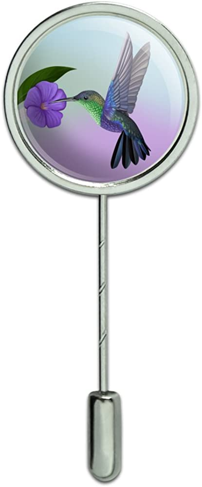GRAPHICS & MORE Hummingbird Crowned Woodnymph Purple Violet Stick Pin Stickpin Hat Brooch