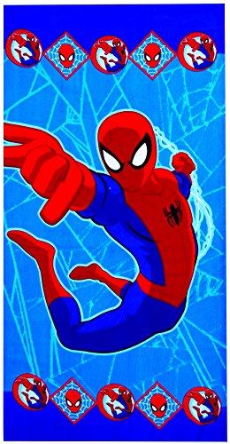 Marvel Spiderman - Toalla de playa (microfibra, 70 x 140 cm), diseño de Spiderman
