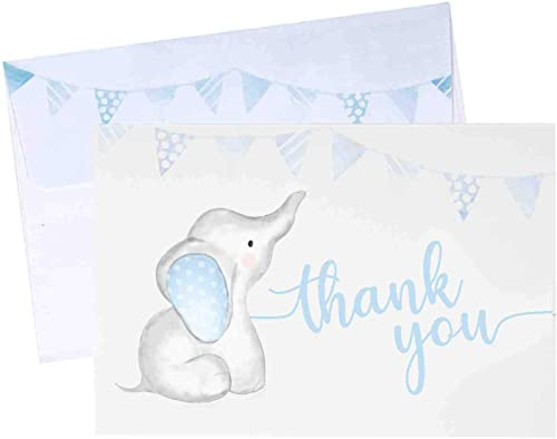 wholesale Thank You Cards for Baby Shower with outlet sale Boy Theme - 20 Cards with sale Envelopes (4 inch x 6 inch) online
