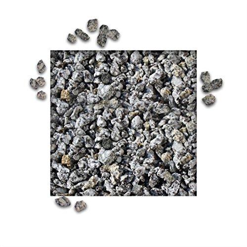 25 kg Granitsplitt Grau Gartensplitt Ziersplitt Deko Granit Dekoration Splitt Körnung 5/8 mm