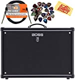 BOSS Katana 50 Mkll 50-watt 1x12' Combo Amp Bundle with Instrument Cable, 24 Picks, and Austin Bazaar Polishing Cloth