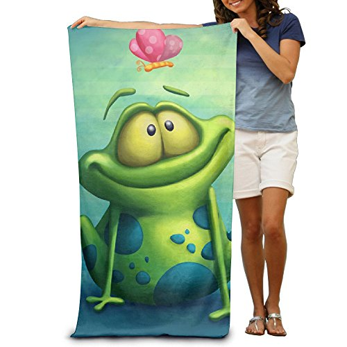 """Proud Clothing Frog Watch Butterfly Quick-Drying Pool Beach Towel Travel Bath Towel for Adults 31""""x 51"""" (80cm X 130cm)"""