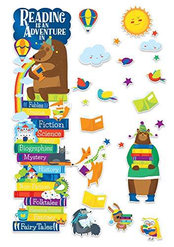 Eureka ''Reading is an Adventure'' Classroom Decoration Door Poster Kit, 46pcs, 45'' H