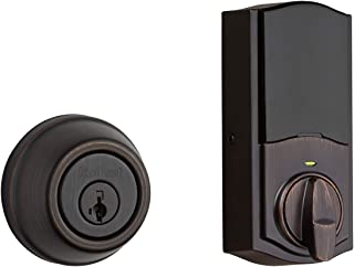 Kwikset 99140-131 Signature Series 2nd Gen Round Smart Lock Featuring SmartKey Security and Home Connect Technology Traditional Z-Wave Plus Deadbolt, Venetian Bronze